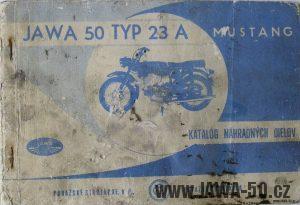 Katalog náhradních dílů Jawa 50 typ 23A Mustang