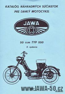 Katalog náhradních dílů motocyklu Jawa 550 Pionýr