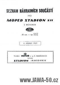 Seznam náhradních součástí pro moped Stadion S11 s motorem Jawa 552