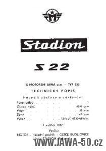 Návod k obsluze mopedu Stadion S22 s motorem Jawa 552