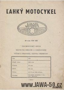 Návod k obsluze motocyklu Jawa 555 Pionýr