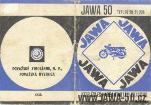 Katalog náhradních dílů k motocyklům Jawa 50 typ 20, 21, 23 v Maďarštině