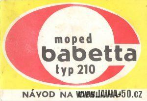 Návod k obsluze mopedu M210 Babetta