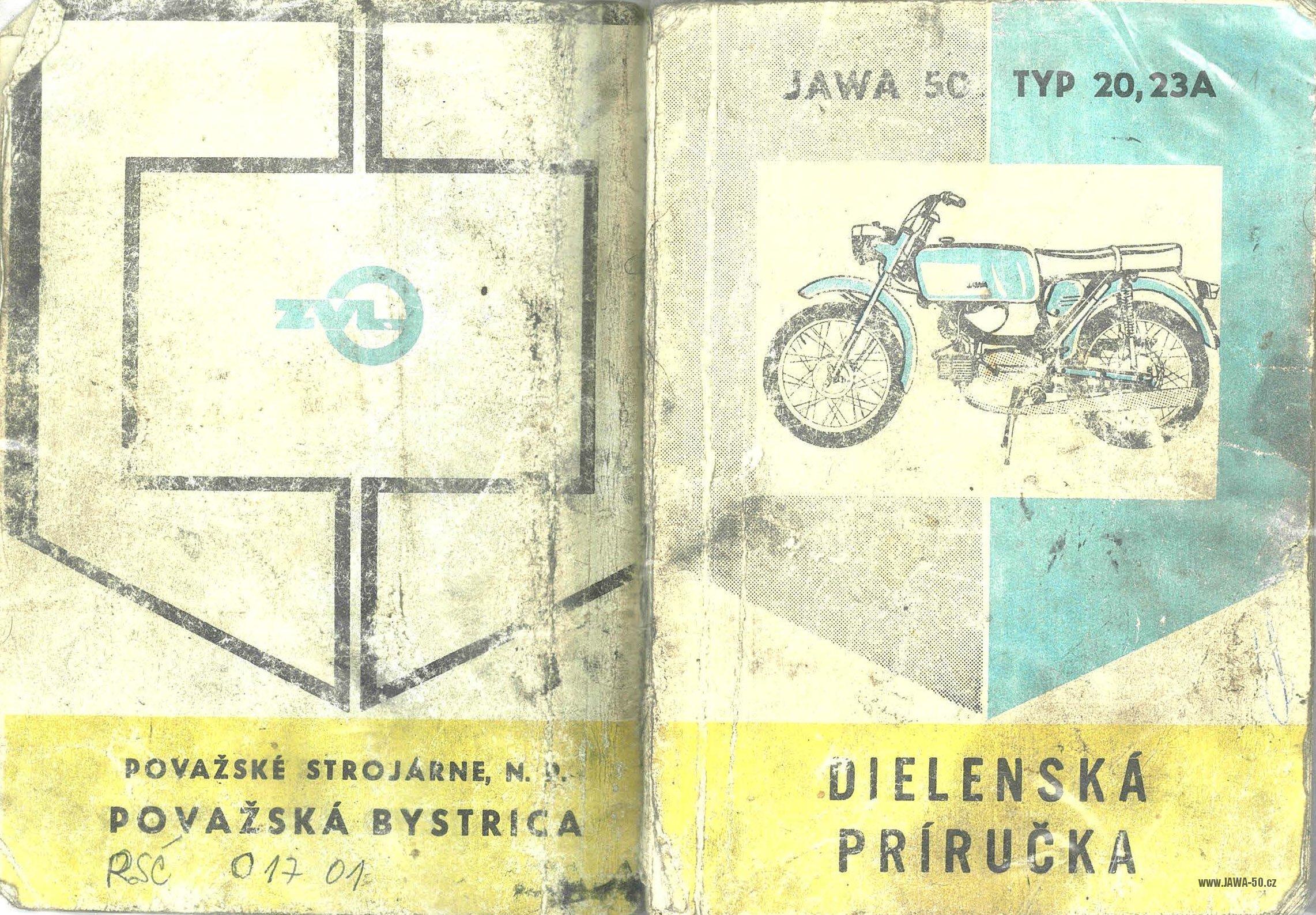Dílenská příručka k motocyklům Jawa 20, 23A Mustang