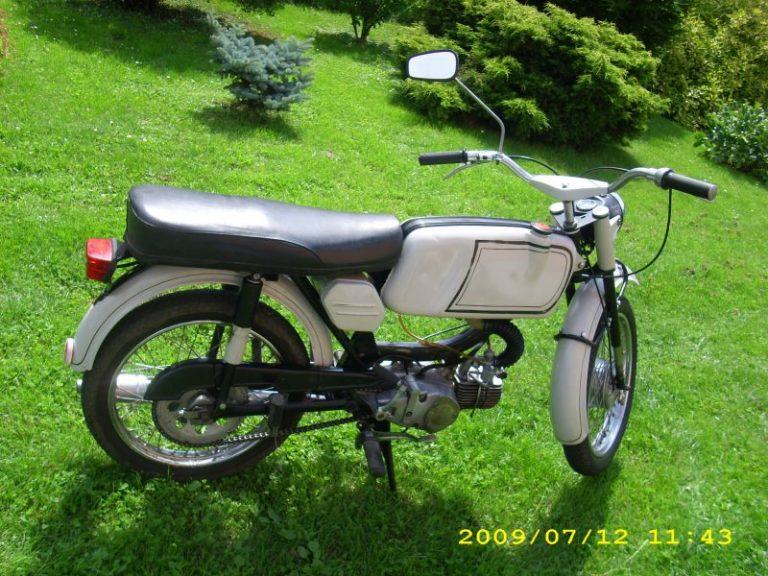 Třetí výrobní etapa motocyklu Jawa 50 typ 23A Mustang z roku 1972