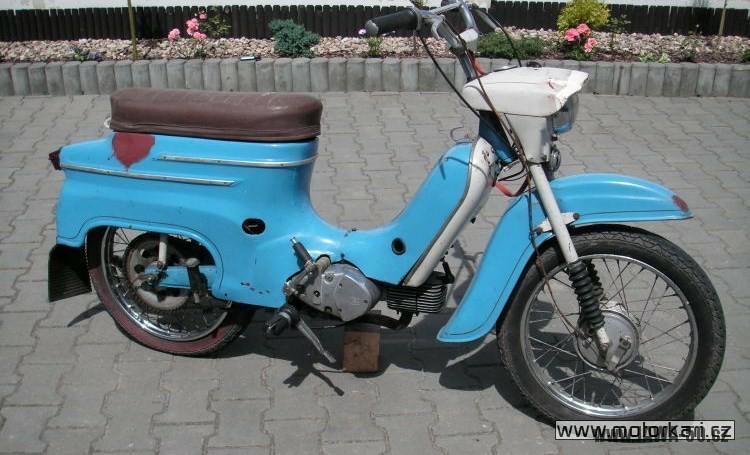 Motocykl Jawa 50 typ 21 Sport z roku 1968 v původním stavu