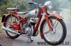 Motocykl Jawa 250 Speciál z roku 1938