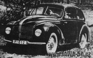 První vozy Jawa Aero Minor s jedním stěračem