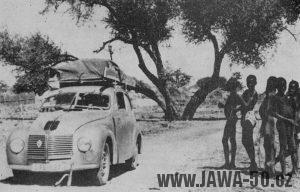 Cestovatel F. A. Elstner s Minorem v Africe