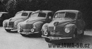 Tým Aero Minor na Rallye Monte Carlo 1949