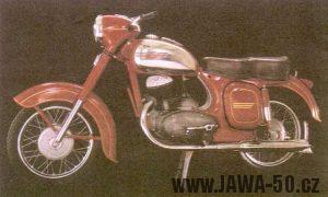 Motocykl Jawa-ČZ 250 typ 353/02 kývačka