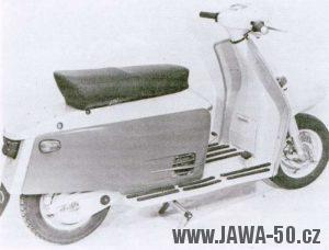 Prototyp skútru Jawa z roku 1965