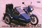 Jawa 350 typ 640 s postranním vozíkem Velorex 700S