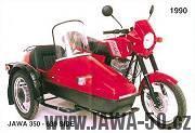 Jawa 350 typ 639 s postranním vozíkem Velorex 562
