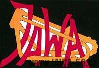 První (neoficiální) logo Jawa na nádrži motocyklu Jawa 500 OHV Rumpál