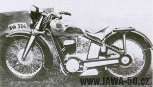 Jawa 350 SV - prototyp s elektrickým spouštěčem (startérem)