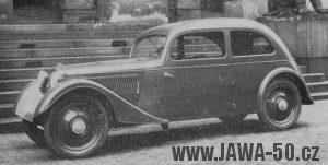 Modernizovaný automobil Jawa 700