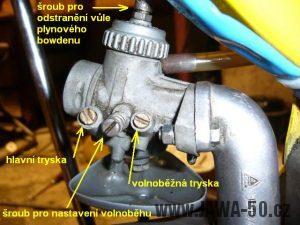 Popis motocyklového karburátoru Jikov 2917 PSb