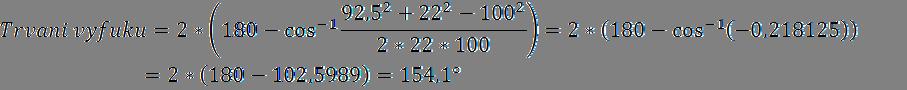 Příklad výpočtu délky trvání výfuku