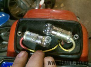 Úprava žárovek (žárovky 12V/15W sufid se nevyrábí)