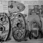 Odlitky motoru pionýra se čtyřstupňovou převodovkou