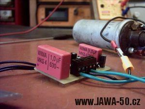 Fotky z výroby tyristorového zapalování pro Jawu 50