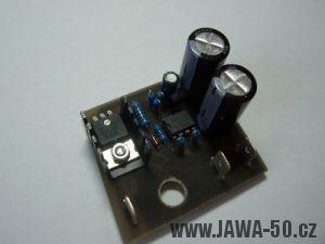 Oddělená verze 12V regulátoru napětí (dobíjení) alternátoru Jawa 50 Pionýr