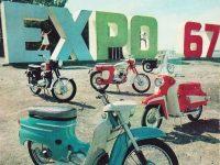 Expo 1967 - motocykly Jawa, Manet
