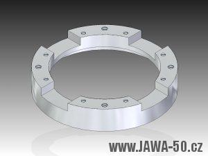 3D model čtyřpólového statoru zapalování Jawa 50 Pionýr