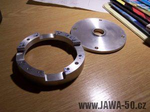 Čtyřpólový (čtyřcívkový) stator zapalování Jawa 50 Pionýr - polotovary