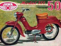 Jawa 555 dobový reklamní prospekt