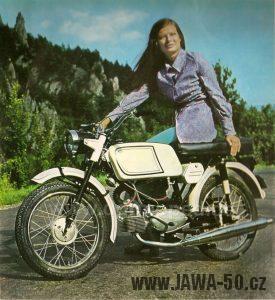 Motocykl Jawa 23A Mustang