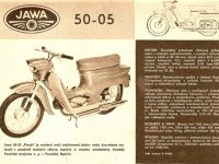 Reklamní prospekt Jawa 05 (1962)