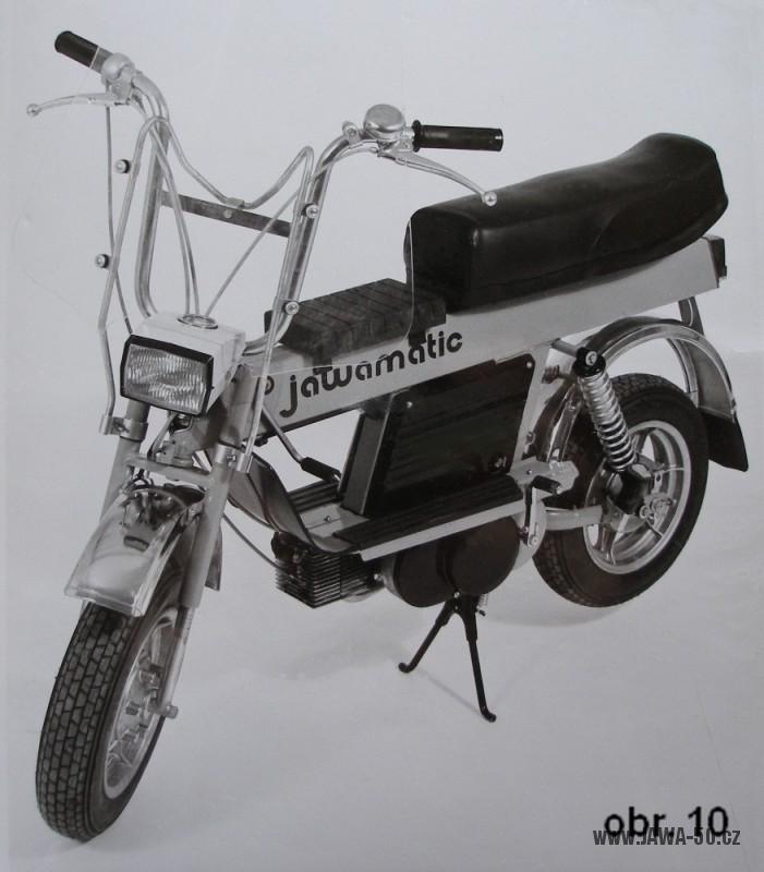 Prototyp dvourychlostního mopedu Babetty M-210 s názvem Jawa Matic