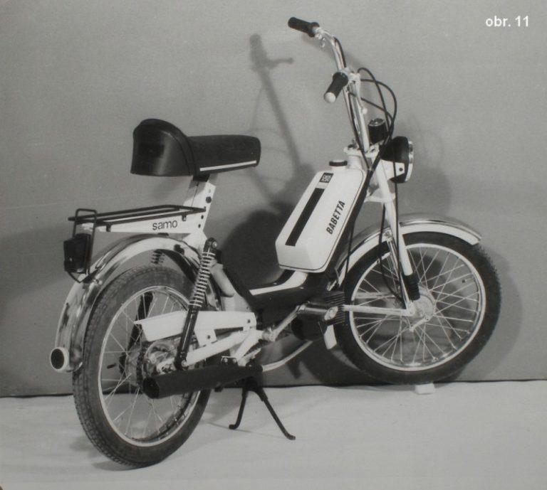 """Prototyp dvourychlostního mopedu M-210 Babetta s názvem """"Samo"""", který se neujal"""