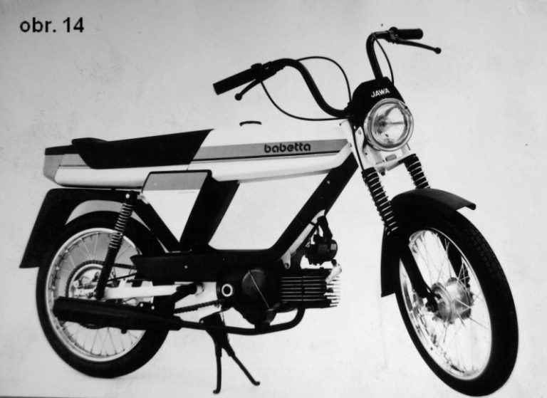 Prototyp mopedu Babetta (design Jindřich Šafařík)