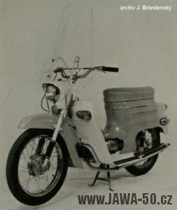 Vývozní motocykl Jawa 05A Pionýr pro USA a Kanadu