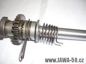 Pětikvalt Jawa 50 - startovací mechanismus