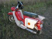 Dělaný nosič pro Jawa 50 Pionýr + boční kufry vyrobené z kanystrů na benzín