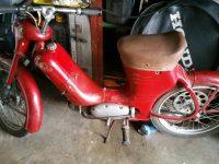 Motocykl Jawa 50 typ 550 Pionýr (pařez) z roku 1958 v originálním stavu