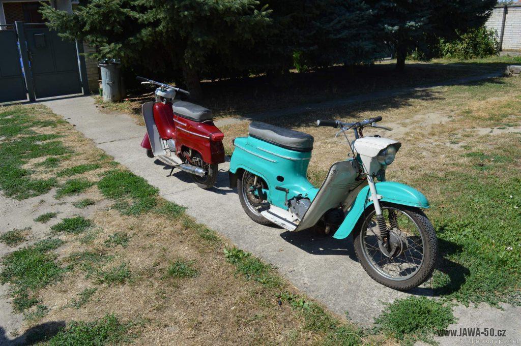 Motocykl Jawa 50 typ 20 Pionýr z roku 1968 s atypickým výrobním číslem