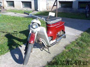 Motocykl Jawa 05 pionýr z roku 1964