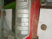 Motocykl Jawa 50 typ 05 Pionýr z roku 1963 v původním stavu - výrobní štítek