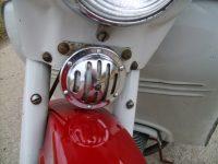 Motocykl Jawa 50 typ 05 Pionýr z roku 1963 v původním stavu - chromovaný bzučák (klakson) z typu 555