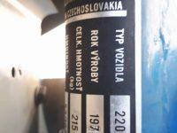 Motocykl Jawa 50 typ 220 Pionýr v původním stavu - výrobní štítek