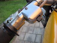 Vývozní (přiškrcený) motocykl Jawa 50 typ 223.200 Mustang pro Maďarsko z roku 1982 - přepínač světla bez tlačítka klaksonu (bzučáku)