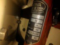 Motocykl Jawa 50 typ 20 Pionýr z roku 1969 v původním stavu - výrobní štítek