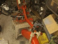 Motocykl Jawa 50 typ 20 Pionýr z roku 1969 v původním stavu - rám (kostra)