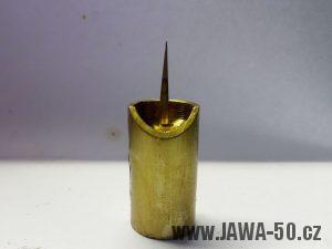 Šoupátko s (ostrou) jehlou prvního provedení karburátoru Jikov 2912