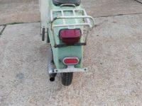 Vývozní (exportní) motocykl Jawa 50 typ Super M20 Pionýr pro Maďarsko z roku 1968 - zadní světlo a odrazka, neoriginální nosič